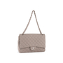 Authentic Second Hand Chanel Classic Flap Jumbo Jersey (PSS-860-00075) - Thumbnail 4