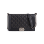 Authentic Second Hand Chanel Studded Medium Boy Bag (PSS-860-00076) - Thumbnail 0