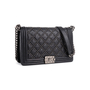 Authentic Second Hand Chanel Studded Medium Boy Bag (PSS-860-00076) - Thumbnail 1