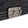 Authentic Second Hand Chanel Studded Medium Boy Bag (PSS-860-00076) - Thumbnail 4
