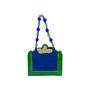 Authentic Vintage Helene Angeli Brocade Suede Handbag (PSS-916-00108) - Thumbnail 2