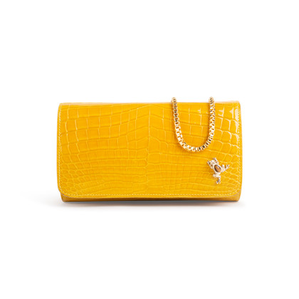 Authentic Second Hand Ethan K Mrs Baker Crocodile Clutch (PSS-926-00005)