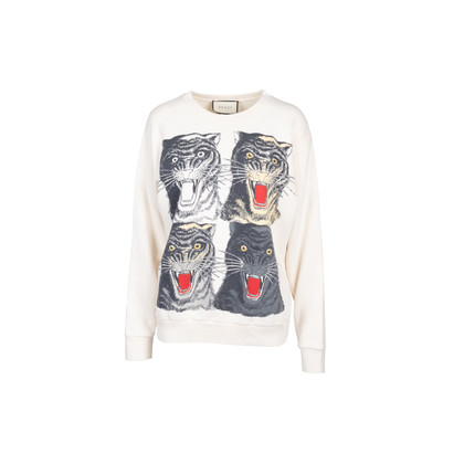 Authentic Second Hand Gucci Tiger Face Sweatshirt (PSS-029-00073)