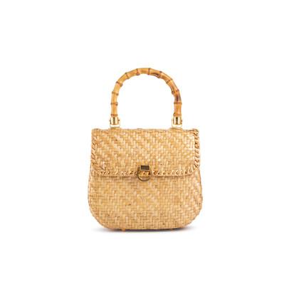 Authentic Vintage (unbranded) Vintage Rattan Bag (PSS-238-00065)