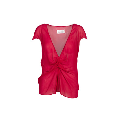 Authentic Second Hand Maison Martin Margiela Sheer Twist Front Blouse (PSS-238-00061)