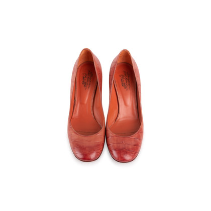Authentic Second Hand Santoni Rose Collection Embossed Leather Pumps (PSS-238-00069)