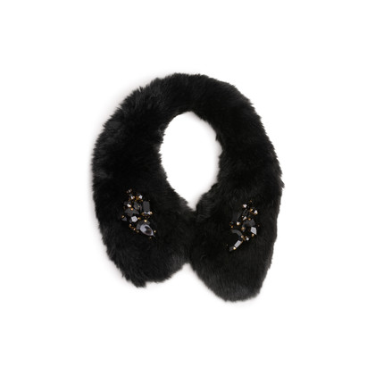Authentic Second Hand Kate Spade Embellished Faux Fur Collar (PSS-247-00184)