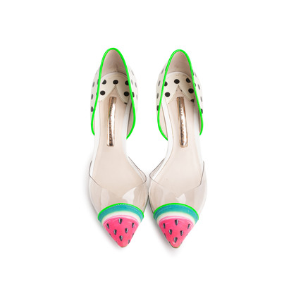 Authentic Second Hand Sophia Webster Jessica Watermelon Pumps (PSS-740-00012)
