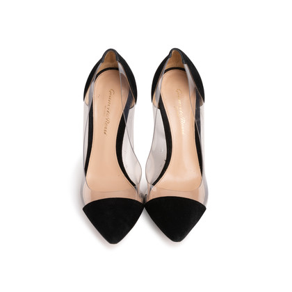 Authentic Second Hand Gianvito Rossi Plexi Suede Pumps (PSS-740-00013)