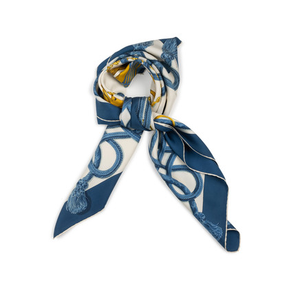 Authentic Second Hand Hermès Palefroi Silk Scarf (PSS-937-00014)