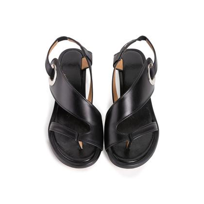 Authentic Second Hand Maison Martin Margiela Metal Circle Slingback Sandals (PSS-637-00110)