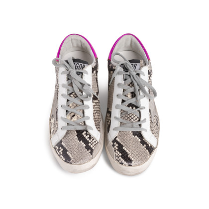 Authentic Second Hand Golden Goose Deluxe Brand Superstar Snake Print Sneakers (PSS-424-00252)