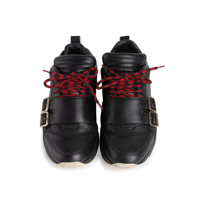 Authentic Second Hand Dior Homme Perforated Buckle Leather Sneakers (PSS-946-00003)