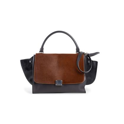 Authentic Second Hand Céline Trapeze Ponyhair Bag (PSS-949-00001)