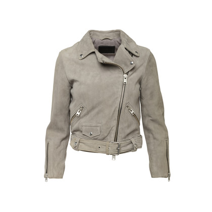 Authentic Second Hand All Saints Suede Motorcycle Jacket (PSS-097-00585)