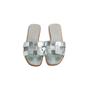 Authentic Second Hand Hermès Metallic Oran Flats (PSS-097-00610) - Thumbnail 0