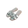 Authentic Second Hand Hermès Metallic Oran Flats (PSS-097-00610) - Thumbnail 3