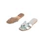 Authentic Second Hand Hermès Metallic Oran Flats (PSS-097-00610) - Thumbnail 4