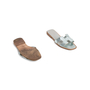 Authentic Second Hand Hermès Metallic Oran Flats (PSS-097-00610) - Thumbnail 5