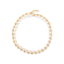 Authentic Second Hand Chanel Pearl and Chain Link Necklace (PSS-017-00024) - Thumbnail 0