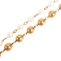 Authentic Second Hand Chanel Pearl and Chain Link Necklace (PSS-017-00024) - Thumbnail 4