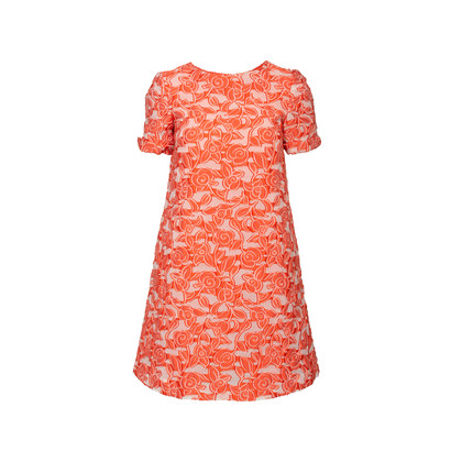 Authentic Second Hand Armani Collezioni Floral Embroidered Shift Dress  (PSS-956-00008)