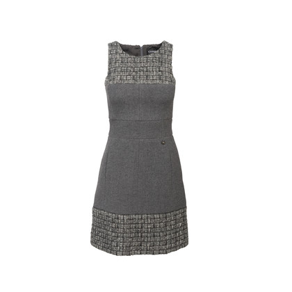 Authentic Second Hand Chanel Wool Tweed Dress (PSS-956-00016)