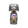 Authentic Second Hand Clover Canyon Baroque Rose Scarf Neoprene Dress (PSS-074-00255) - Thumbnail 0