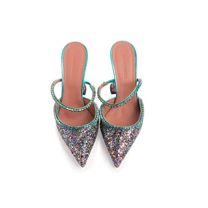 Authentic Second Hand Amina Muaddi Gilda Mules (PSS-143-00150)