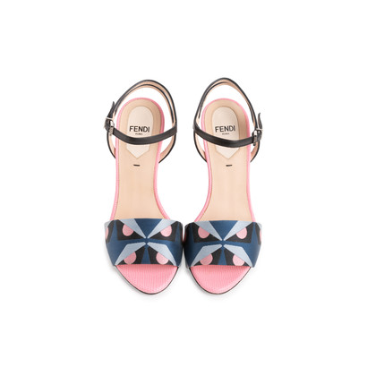 Authentic Second Hand Fendi Bag Bugs Brocade Sandals (PSS-387-00095)