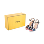 Authentic Second Hand Fendi Bag Bugs Brocade Sandals (PSS-387-00095) - Thumbnail 7