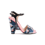 Authentic Second Hand Fendi Bag Bugs Brocade Sandals (PSS-387-00095) - Thumbnail 1