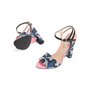 Authentic Second Hand Fendi Bag Bugs Brocade Sandals (PSS-387-00095) - Thumbnail 4