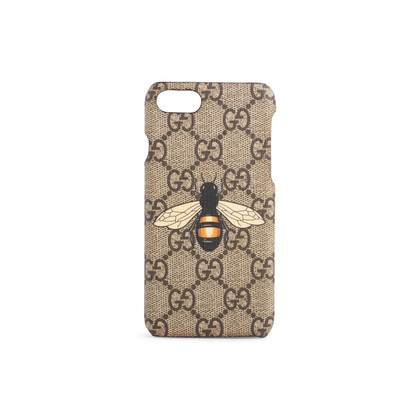 Authentic Second Hand Gucci GG Supreme Bee Phone Case (PSS-387-00098)