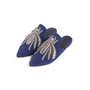 Authentic Second Hand Sanayi 313 Ragno Embroidered Slippers (PSS-916-00339) - Thumbnail 3