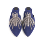 Authentic Second Hand Sanayi 313 Ragno Embroidered Slippers (PSS-916-00339) - Thumbnail 0