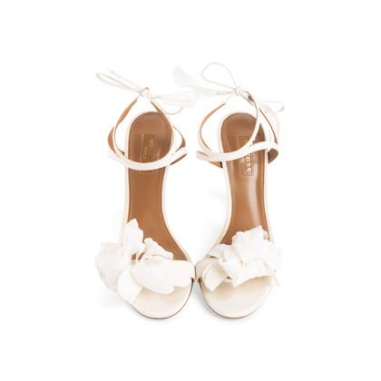 Authentic Second Hand Aquazzura Floral Bridal Sandals (PSS-968-00004)