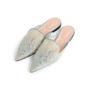 Authentic Second Hand Alberta Ferretti Mia Lace Mule Slippers (PSS-916-00372) - Thumbnail 3