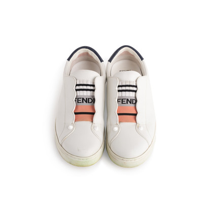 Authentic Second Hand Fendi Rockoclick Scalloped Sneakers (PSS-916-00382)