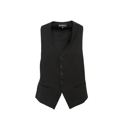 Authentic Second Hand Ann Demeulemeester Buttoned Down Vest (PSS-963-00002)