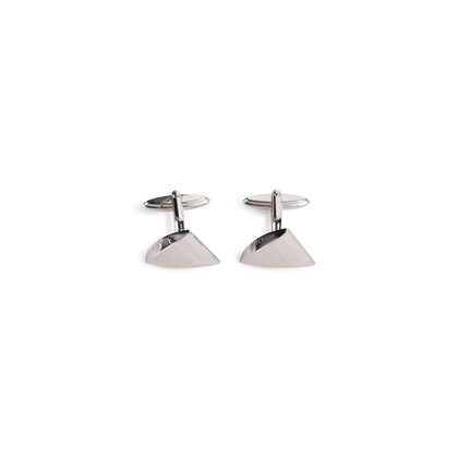 Authentic Second Hand Lanvin Brushed Metal Cufflinks (PSS-967-00006)