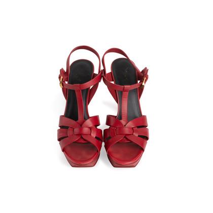 Authentic Second Hand Yves Saint Laurent Tribute Sandals (PSS-972-00018)