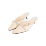 Authentic Second Hand Chanel Leather Pointed Toe Mules (PSS-067-00120) - Thumbnail 3