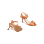 Authentic Second Hand Manolo Blahnik Leather Ankle Strap Sandals (PSS-067-00128) - Thumbnail 5