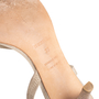 Authentic Second Hand Hermès Metallic Slingback Sandals (PSS-067-00150) - Thumbnail 6