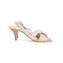 Authentic Second Hand Hermès Metallic Slingback Sandals (PSS-067-00150) - Thumbnail 1