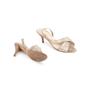 Authentic Second Hand Hermès Metallic Slingback Sandals (PSS-067-00150) - Thumbnail 5