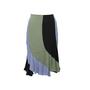 Authentic Second Hand Yves Saint Laurent Colour Blocking Flare Skirt (PSS-067-00207) - Thumbnail 0