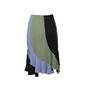 Authentic Second Hand Yves Saint Laurent Colour Blocking Flare Skirt (PSS-067-00207) - Thumbnail 1