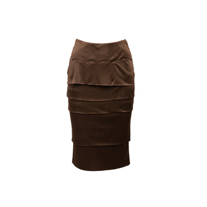 Authentic Second Hand Yves Saint Laurent Tiered Pencil Skirt (PSS-067-00215)